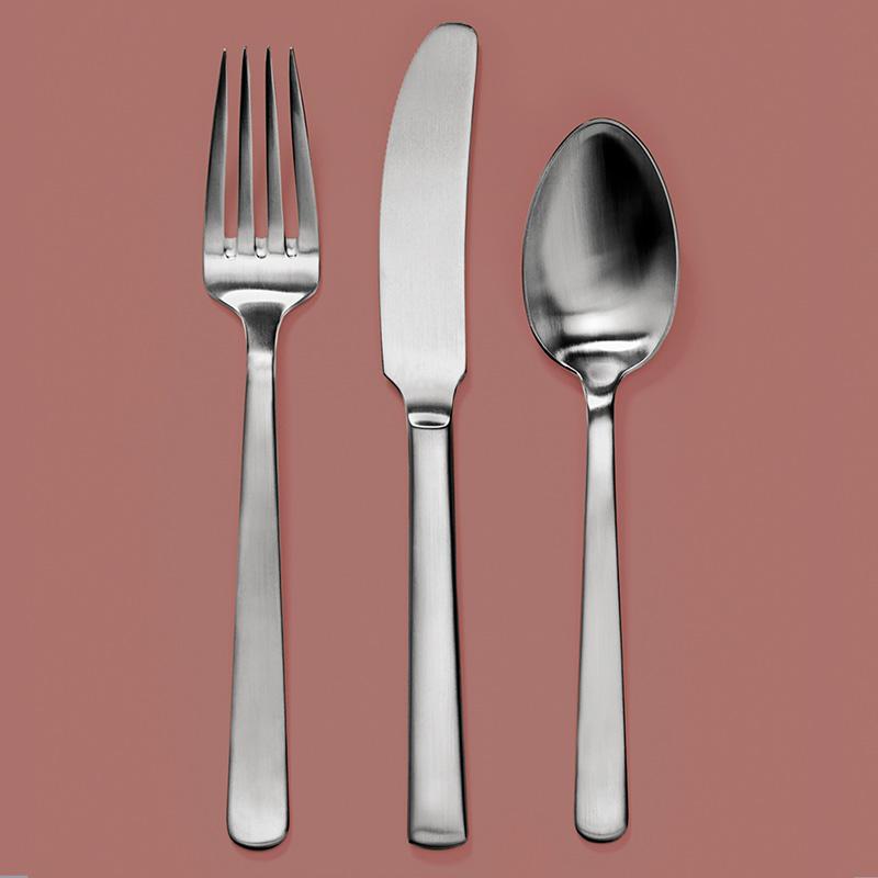 Gaffel, kniv, ske