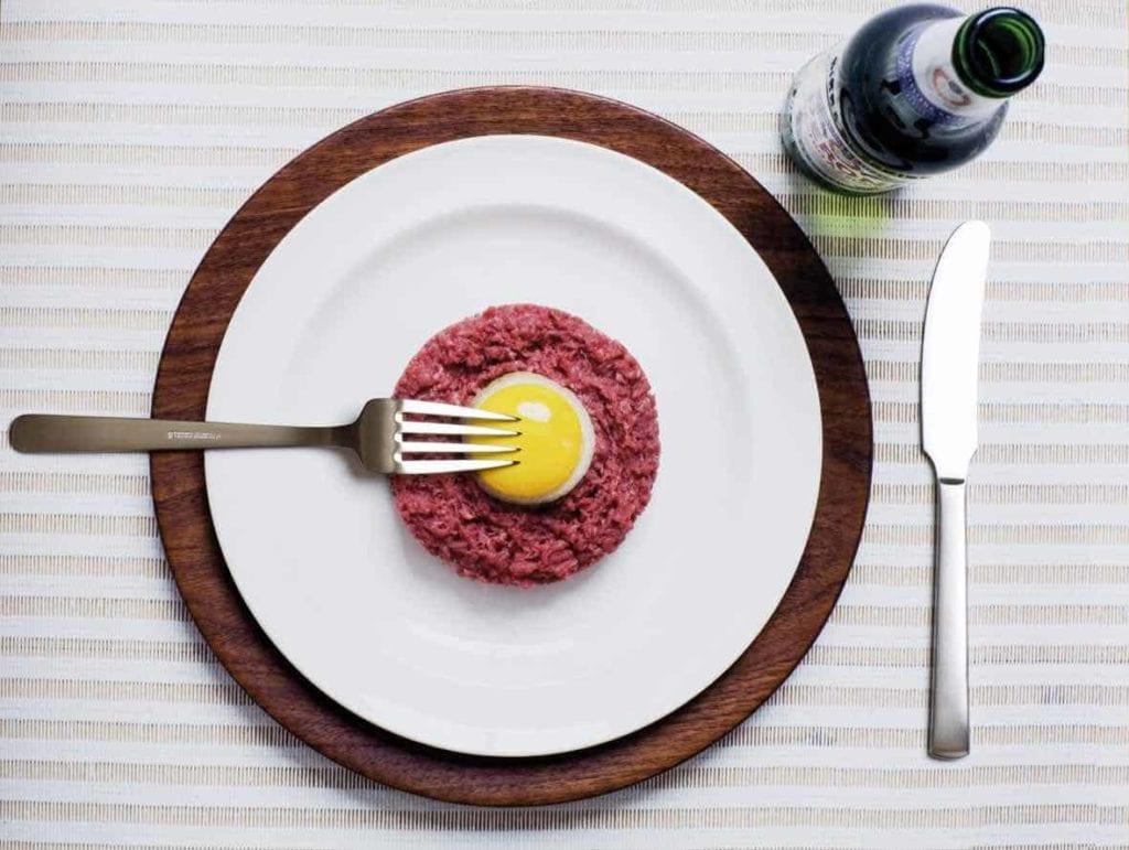 Middagskniv i mat stål